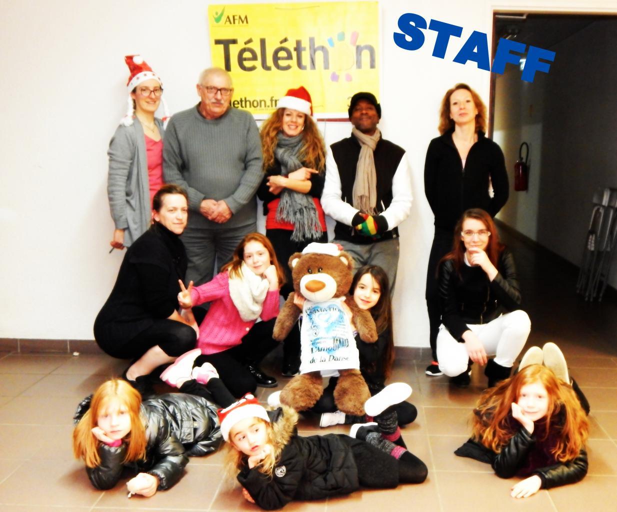 4 décembre 2016 Téléthon : Le Staff