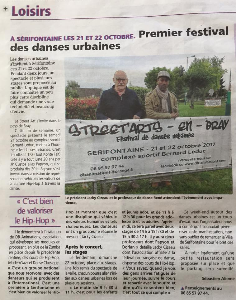 Article street arts en bray