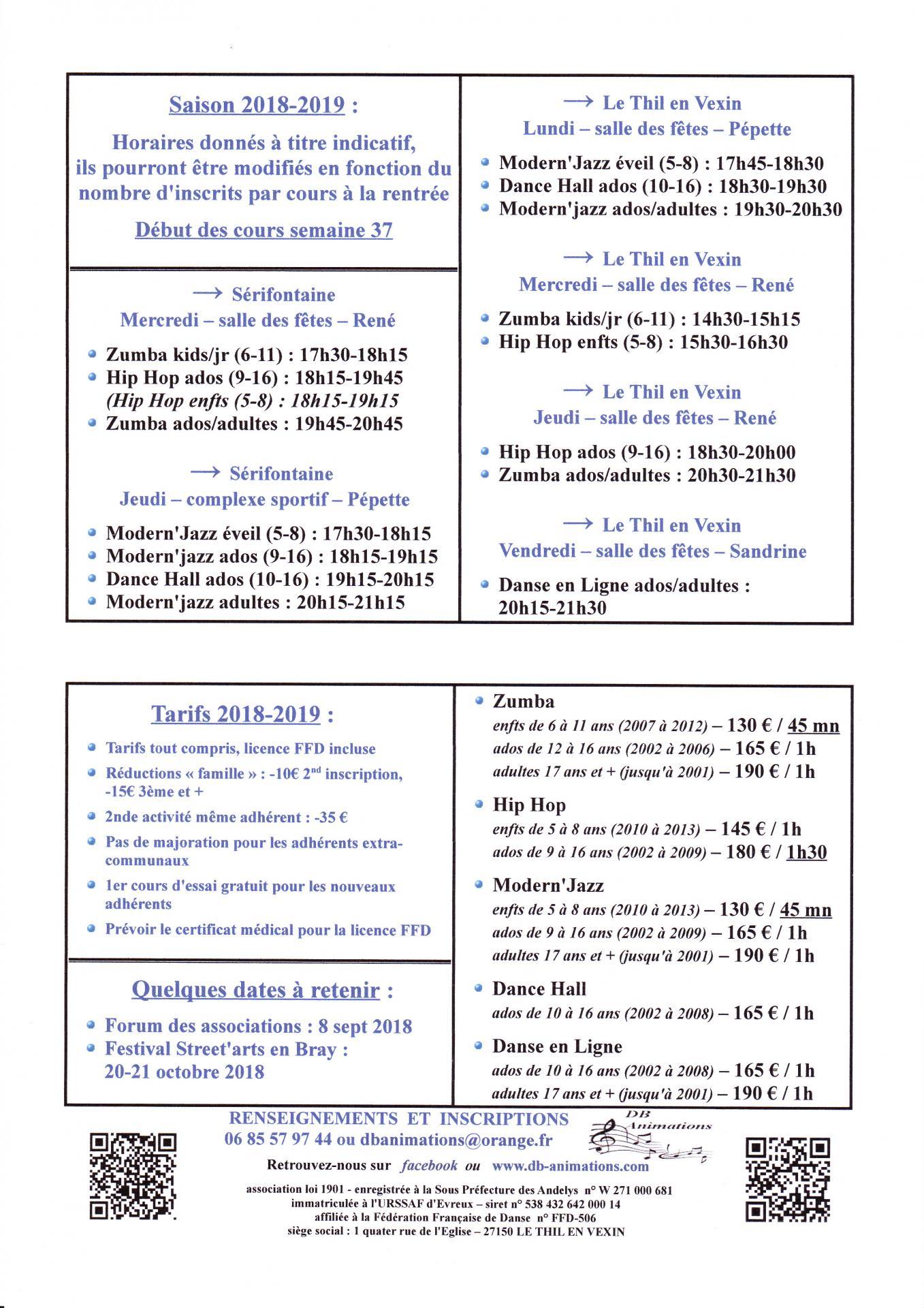 Db horaires tarifs 2018 2019